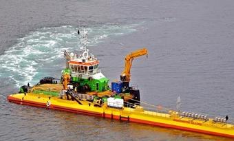 De drijvende turbine in Schotland verpulvert records in getijdenenergie