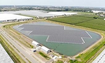 Drijvend zonnepark levert stroom voor 600 huishoudens