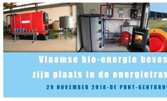 Studiedag bio-energieplatform: Vlaamse bio-energie bevestigt zijn plaats in de energietransitie