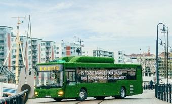 In Zweden rijden bussen op afvalwater.