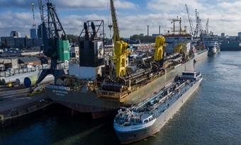 Eerste baggerschip op 100% bio-olie moet weg leiden naar CO2-reductie schepen Boskalis