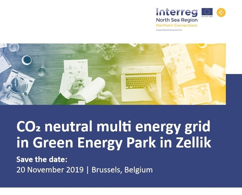 CO2 neutral multi energy grid in Green Energy Park in Zellik