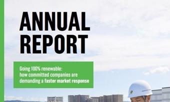 100% hernieuwbaar: het jaarlijks rapport RE100: Vooruitgang en inzichten