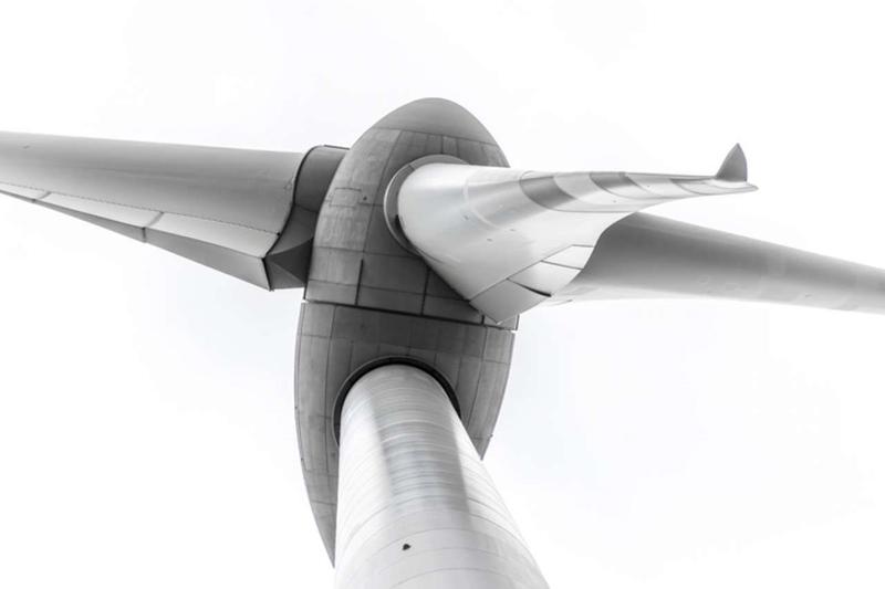 Bladen van windturbines worden voetpaden