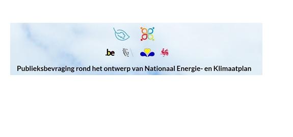 ONLINE ENQUÊTE IN HET KADER VAN HET NATIONAAL KLIMAAT- EN ENERGIEPLAN