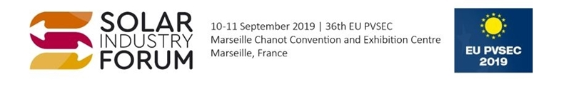 The 3rd edition of the Solar Industry Forum takes place in Marseille on 10-11 September 2019