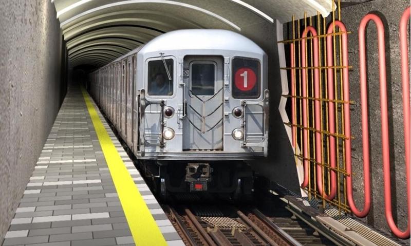Een metrotunnel omgebouwd tot een geothermische energiebron