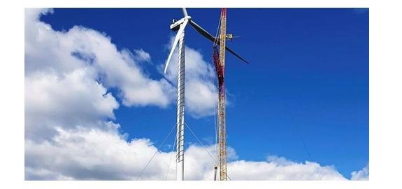 Hoogste stalen windturbinetorens ter wereld in Finland