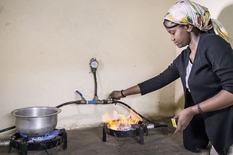 Biogas oplossing voor onzuivere keukenrook
