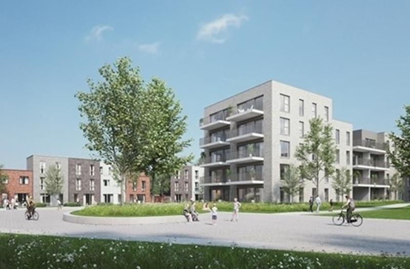 Bouw van duurzame woonwijk in Turnhout, met warmtenet