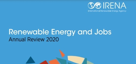 IRENA rapport 'Renewable Energy and Jobs – Annual Review 2020'