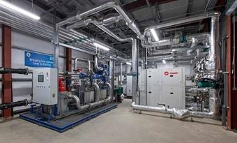 Trane R1234ze-warmtepompen in een baanbrekend afvalwaterproject