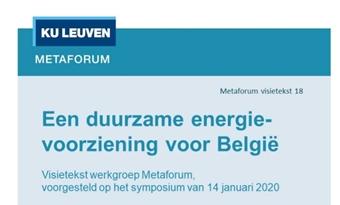 Metaforum: Een duurzame energievoorziening voor België?