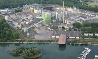 De papierfabriek van Stora Enso levert stadsverwarming uit hernieuwbare energie in Duitsland
