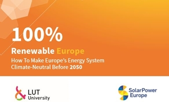 Rapport 100% Hernieuwbaar Europa: Hoe maak je Europa's energiesysteem klimaatneutraal vóór 2050?