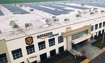 Amazon laat 5 nieuwe zonneparken bouwen met 615 megawattpiek zonnepanelen