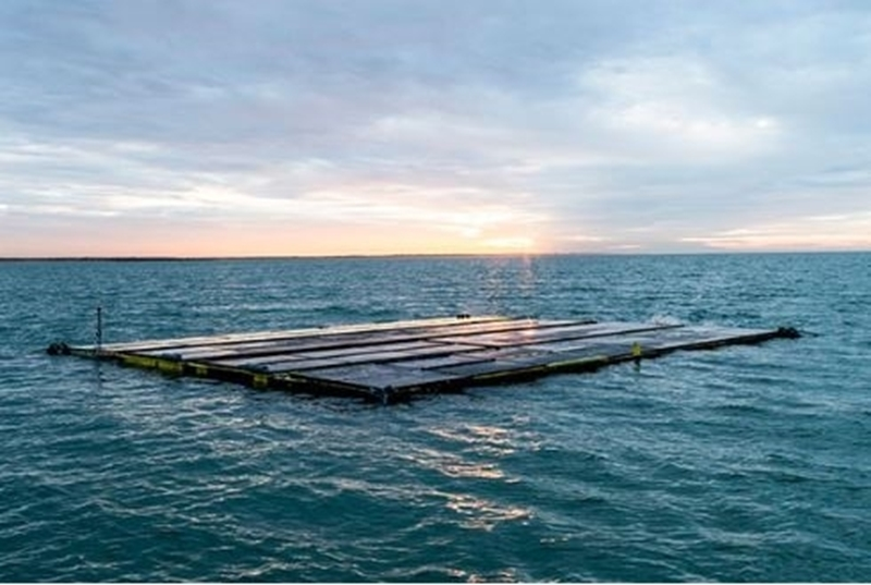 Drijvende zonnepanelen op zee produceren 18% beter