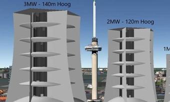 Windturbine zonder wieken slaat zelf energie op