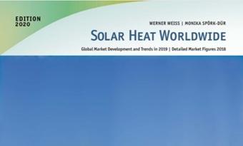 Zonnewarmte wereldwijd 2020: megawatt-installaties in opmars