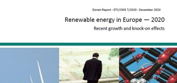 """ETC/CME RAPPORT """"HERNIEUWBARE ENERGIE IN EUROPA 2020"""" GEPUBLICEERD"""