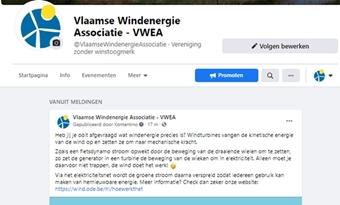 VWEA actief op facebook!