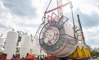 Bioreactoren voor ArcelorMittal Steelanol-installatie geïnstalleerd