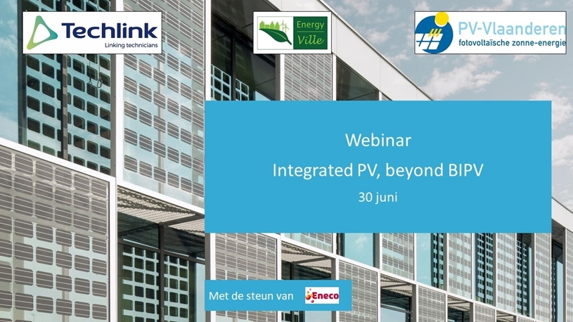 Webinar Integrated PV, beyond BIPV op 30 juni 2021