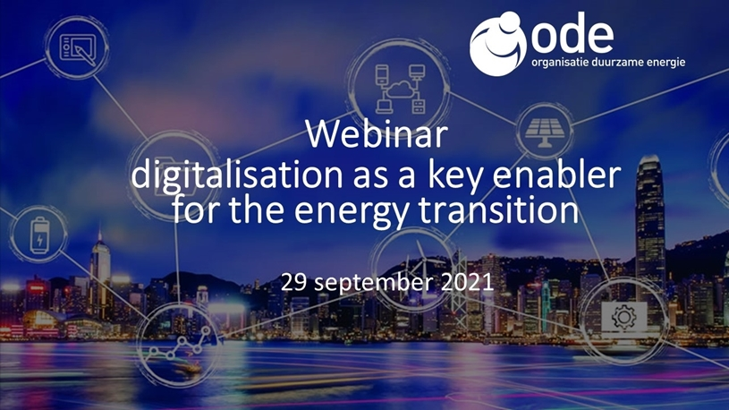 Digitalisation as a key enabler for the energy transition
